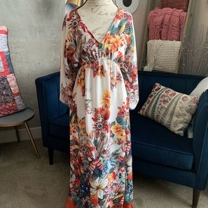 Zara Floral Maxi Dress - M